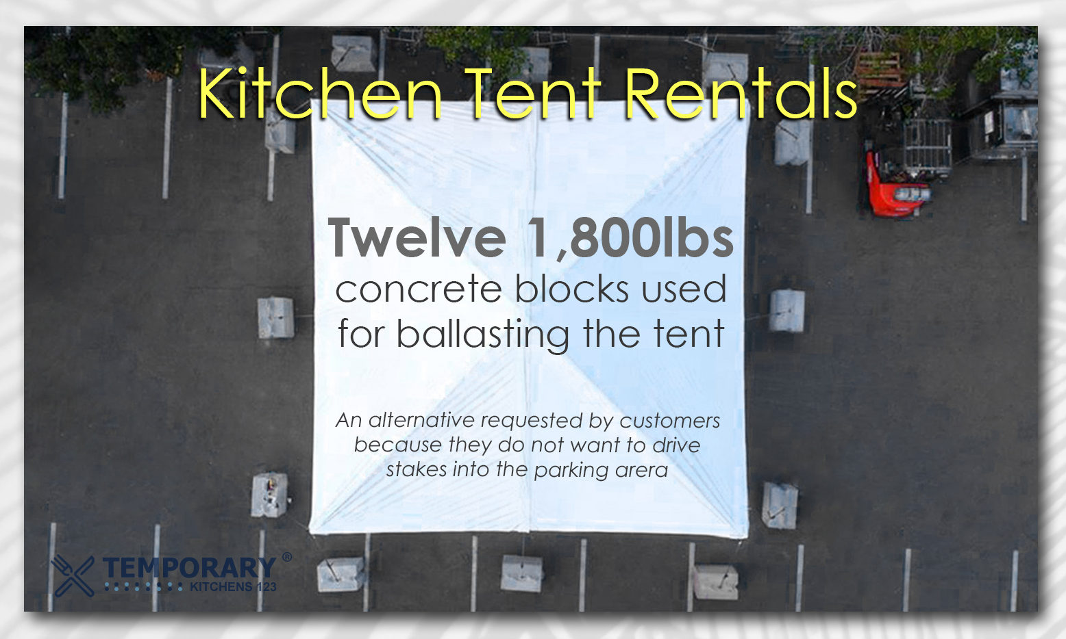Kitchen tent rentals temporary kitchens 123 with ballasting blocks